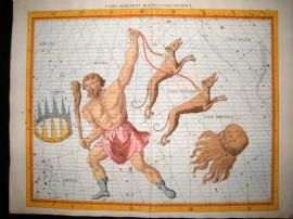 Flamsteed 1781 LG Folio Celestial Map. Comae Berenices Bootes Canes Venatici 20